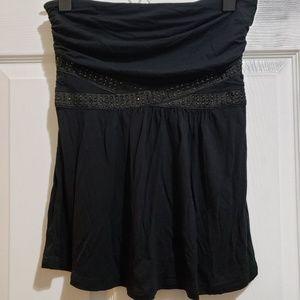 NWT Black Strapless Top